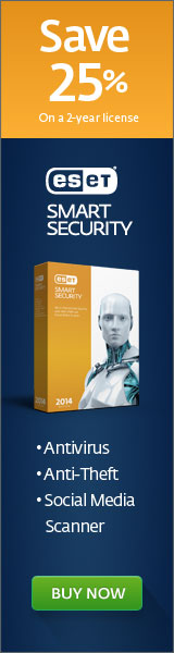 160x600 ESET Smart Security 5 - Save 25%